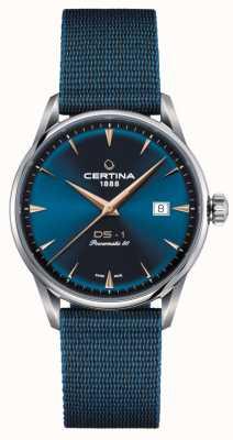 Certina Reloj ds-1 powermatic 80 con esfera azul C0298071104102