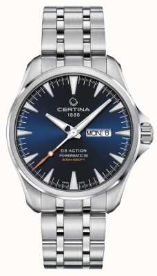 Certina Ds action day-date powermatic 80 esfera azul C0324301104100