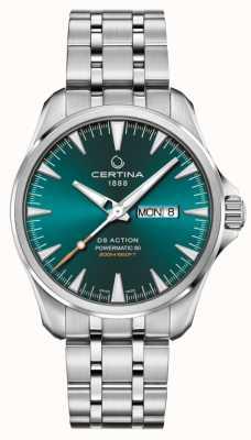 Certina Ds action day-date powermatic 80 esfera verde C0324301109100