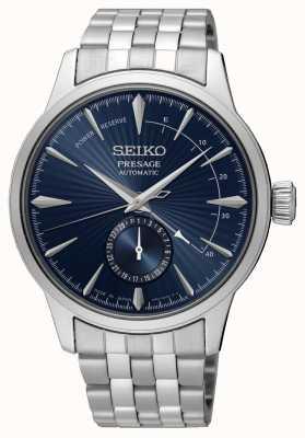 Seiko Presagio de la hora del cóctel 'la luna azul' | pulsera de acero inoxidable | esfera azul SSA347J1