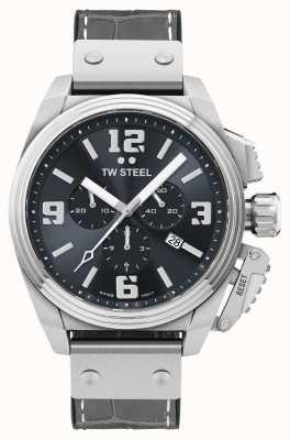 TW Steel Reloj Canteen con correa de piel gris TW1013