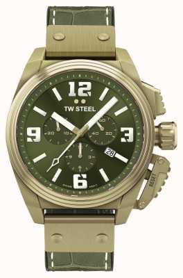TW Steel Cantina bronce esfera verde chapada en pvd TW1015