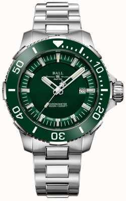 Ball Watch Company Bisel y esfera de cerámica verde Deepquest DM3002A-S4CJ-GR