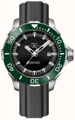 Ball Watch Company Correa de caucho con bisel verde de cerámica deepquest DM3002A-P4CJ-BK