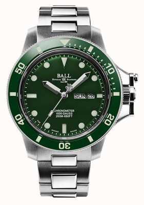 Ball Watch Company Esfera verde original de hidrocarburo de ingeniero para hombre (43 mm) DM2218B-S2CJ-GR