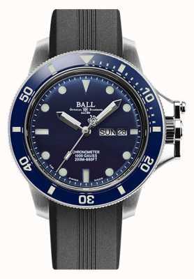 Ball Watch Company Correa de caucho negro original de hidrocarburo de ingeniero para hombre (43 mm) DM2218B-P1CJ-BE