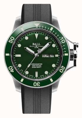 Ball Watch Company Ingeniero de hidrocarburo original (43 mm) correa de caucho con esfera verde DM2218B-P2CJ-GR