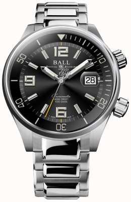 Ball Watch Company Reloj Diver con cronómetro y esfera negra con rayos de sol DM2280A-S2C-BK