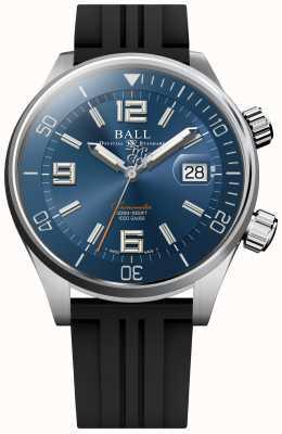 Ball Watch Company Diver cronómetro esfera azul rayo de sol correa de caucho DM2280A-P2C-BE