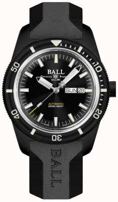 Ball Watch Company Skindiver heritage correa de caucho negra DM3208B-P4-BK