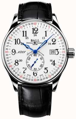 Ball Watch Company Trainmaster railroad standard 130 años hebilla estándar NM3888D-LL3CJ-WH