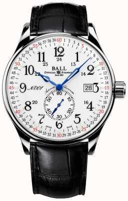 Ball Watch Company Estándar de ferrocarril con hebilla plegable de 130 años NM3888D-LL3CFJ-WH