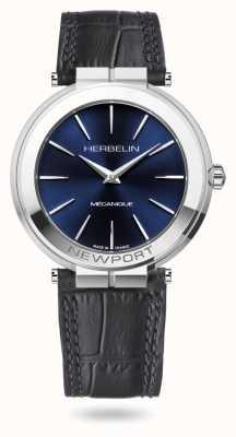 Michel Herbelin Reloj Newport slim de 42 mm con esfera azul 1222/AP15