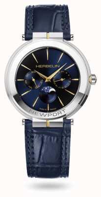 Michel Herbelin Reloj Newport slim moonphase con correa de piel 12722/T15BL