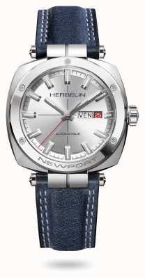 Michel Herbelin Reloj Newport heritage plateado con esfera de rayos de sol 1764/AP11BL
