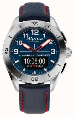 Alpina | alpinerx | reloj inteligente | correa de cuero azul | AL-284LNNR5SSAQ6L