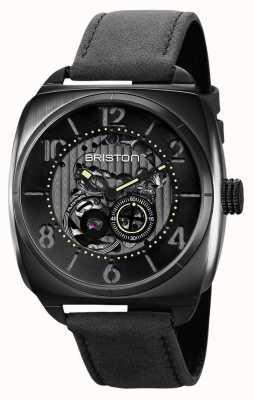 Briston Reloj clubmaster skeleton de pvd negro 211042.SPB.SK.1.CH