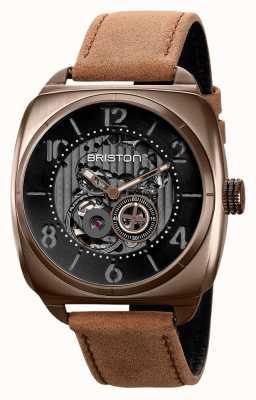 Briston Reloj clubmaster skeleton de pvd caqui 211042.SPK.SK.5.BR