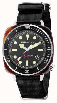 Briston Diver pro correa de acetato negro nato 21644.SA.T.1.NB