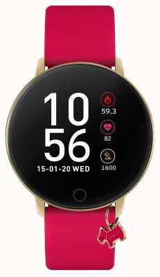 Radley Reloj inteligente serie 5 correa rosa frambuesa y colgante para perro RYS05-2036