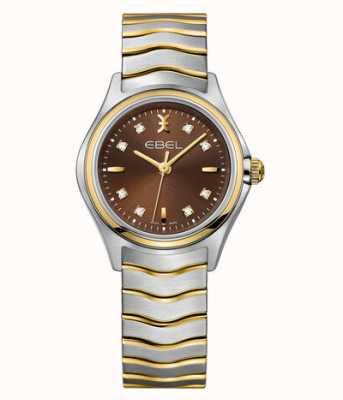 EBEL Reloj Wave para mujer en dos tonos con diamantes 1216318