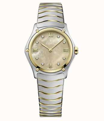 EBEL Reloj deportivo clásico de oro amarillo de 18 quilates en dos tonos 1216488A
