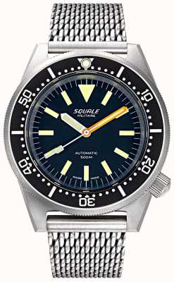 Squale Hombres automático 1521 militaire bead blasted mesh 1521MILIBL.ME20