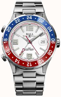 Ball Watch Company Roadmaster pilot gmt edición limitada esfera blanca DG3038A-S2C-WH
