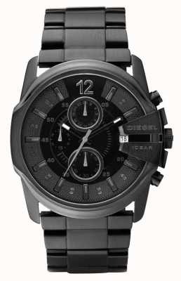Diesel Caballeros todo el reloj negro del cronógrafo DZ4180