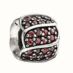 Chamilia Pétalos de color rojo Jeweled cz 2025-0620